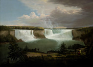 A General View of the Falls of Niagara 1820 by Alvan Fisher Framed Print on Canvas