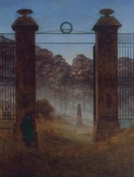 The Cemetery Entrance 1825 by Caspar David Friedric Framed Print on Canvas