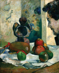 Still Life with Profile of Laval 1886 by Paul Gauguin Framed Print on Canvas