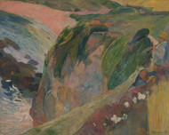 The Flageolet Player on the Cliff 1889 by Paul Gauguin Framed Print on Canvas