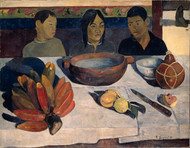 The Meal, also called Bananas 1891 by Paul Gauguin Framed Print on Canvas