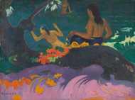 By the Sea 1892 by Paul Gauguin Framed Print on Canvas