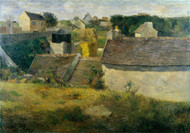 Houses at Vaugirard 1880 by Paul Gauguin Framed Print on Canvas