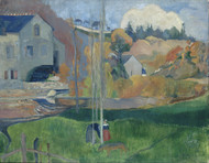 Landscape in Brittany. The David Mill 1894 by Paul Gauguin Framed Print on Canvas
