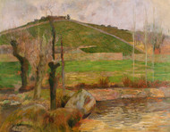 Landscape near Pont-Aven 1888 by Paul Gauguin Framed Print on Canvas