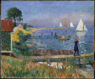 Bathers at Bellport 1912 by William James Glackens Framed Print on Canvas