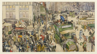 Christmas Shoppers Madison Square by William James Glackens Framed Print on Canvas