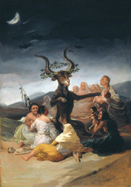 The Witches Sabbath 1897 by Francisco Goya Framed Print on Canvas