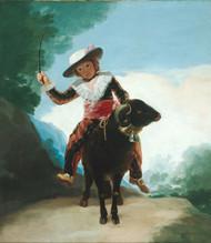Boy on a Ram 1787 by Francisco Goya Framed Print on Canvas
