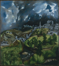 View of Toledo by El Greco Framed Print on Canvas