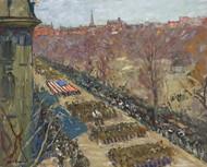 Liberty Loan Parade 1918 by Arthur Clifton Goodwin Framed Print on Canvas