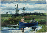 The Blue Boat 1892 by Winslow Homer Framed Print on Canvas