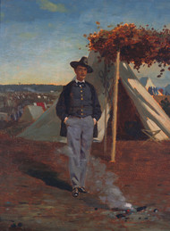 Portrait of Albert Post 1864 by Winslow Homer Framed Print on Canvas