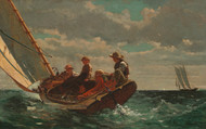 Breezing Up (A Fair Wind) 1873 by Winslow Homer Framed Print on Canvas