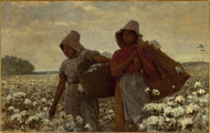 The Cotton Pickers 1876 by Winslow Homer Framed Print on Canvas