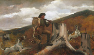A Huntsman and Dogs 1891 by Winslow Homer Framed Print on Canvas