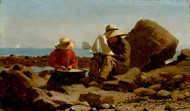 The Boat Builders 1873 by Winslow Homer Framed Print on Canvas