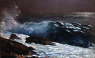 Sunlight on the Coast 1890 by Winslow Homer Framed Print on Canvas