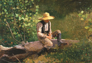 The Whittling Boy by Winslow Homer Framed Print on Canvas