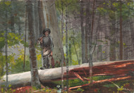 Hunter in the Adirondacks 1892 by Winslow Homer Framed Print on Canvas