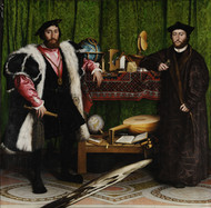 The Ambassadors 1533 by Hans Holbein Framed Print on Canvas