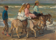 Donkey riding 1898 by Isaac Israels Framed Print on Canvas