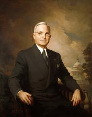Portrait of Harry Truman 1945 by Greta Kempton Framed Print on Canvas