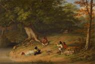 Midday Rest 1854 by Cornelius David Krieghoff Framed Print on Canvas