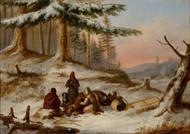 Moose Hunters 1854 by Cornelius David Krieghoff Framed Print on Canvas
