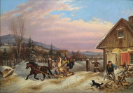 Bilking the Toll 1860 by Cornelius David Krieghoff Framed Print on Canvas