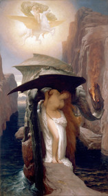 Perseus and Andromeda 1891 by Frederic Leighton Framed Print on Canvas