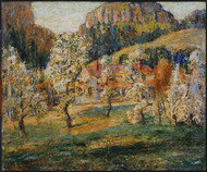 May in the Mountains 1919 by Ernest Lawson Framed Print on Canvas