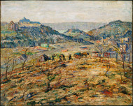 City Suburbs 1914 by Ernest Lawson Framed Print on Canvas