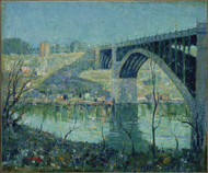 Spring Night, Harlem River 1913 by Ernest Lawson Framed Print on Canvas