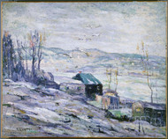 Windy Day, Bronx River by Ernest Lawson Framed Print on Canvas