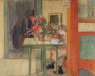 Lisbeth Reading by Carl Larsson Framed Print on Canvas