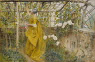 The Vine 1884 by Carl Larsson Framed Print on Canvas