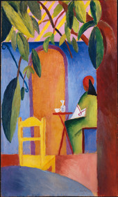 Turkisches Cafe 1914 by August Macke Framed Print on Canvas