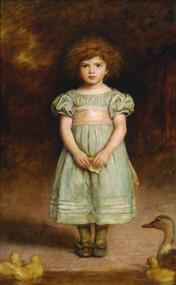 Ducklings 1889 by John Everett Millais Framed Print on Canvas