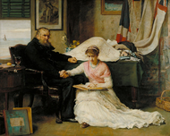 The North-West Passage 1874 by John Everett Millais Framed Print on Canvas