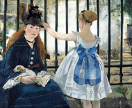 The Railway 1873 by Edouard Manet Framed Print on Canvas