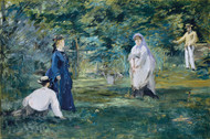 A Game of Croquet 1873 by Edouard Manet Framed Print on Canvas