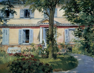 The House at Rueil 1882 by Edouard Manet Framed Print on Canvas