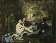 Luncheon on the Grass 1863 by Edouard Manet Framed Print on Canvas