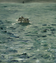 Rochefort's Escape 1881 by Edouard Manet Framed Print on Canvas