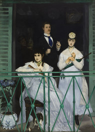 The Balcony 1868 by Edouard Manet Framed Print on Canvas
