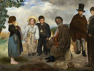 The Old Musician 1862 by Edouard Manet Framed Print on Canvas