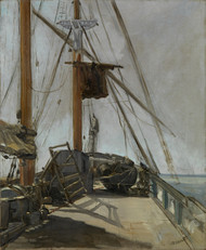The ships deck 1860 by Edouard Manet Framed Print on Canvas
