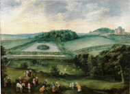 Excursion in the countryside of Infanta Isabel Clara Eugenia by Joos de Momper Framed Print on Canvas