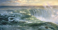 Niagara Falls 1866 by Louis Remy Mignot Framed Print on Canvas